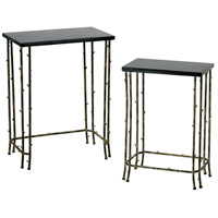 Bamboo 19 X 12 inch Distressed Bamboo Nesting Table Home Decor
