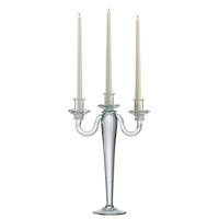 Signature Clear Candelabra, Three Candle