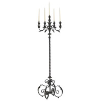 Signature 60 inch Antique Rust Floor Candelabra Portable Light, Large