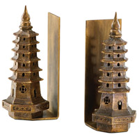 Pagoda 4 X 4 inch Gold Leaf Bookends