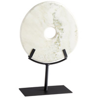 White Disk On Stand 14 X 9 inch Sculpture, Small