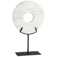 White Disk On Stand 17 X 11 inch Sculpture, Large