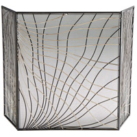 Finley Silver and Black Fire Screen