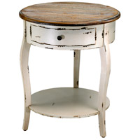 Abelard 20 inch Distressed White and Gray Side Table