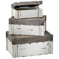 Cyan Design 02471 Alder 11 X 7 inch Distressed White and Gray Box