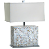 Shell Tile 25 inch 150 watt White and Polished Chrome Table Lamp Portable Light