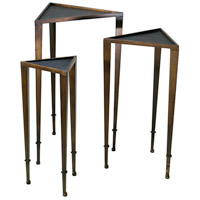 Triangle 19 X 17 inch Ebony and Mahogany Nesting Table Home Decor