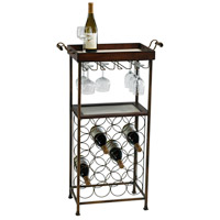 Cyan Design 02793 New York Mahogany and Copper Wine Stand