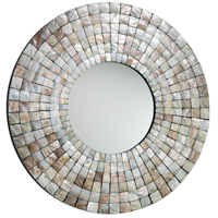 Mosaic Tile Capiz Shell Mirror Home Decor