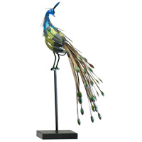 Cyan Design 02826 Peacock On Stand Multi Colored Sculpture No. 2