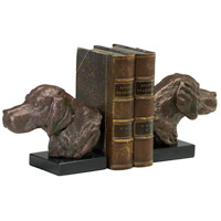 Hound Dog 7 X 4 inch Bronze Bookends