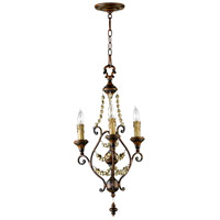 Meriel 3 Light 16 inch Antiqued Sienna Chandelier Ceiling Light