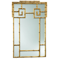 Bamboo 38 X 24 inch Gold Mirror Home Decor