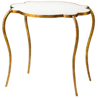 Flora 29 X 24 inch Gold Side Table Home Decor