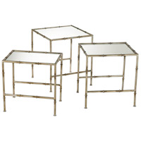 Bamboo 18 X 18 inch Bronze Nesting Table Home Decor