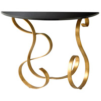 Ribbon 36 X 14 inch Black and Gold Console Table