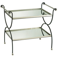 Two Tier 36 X 23 inch Silver and Black Table Home Decor
