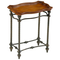 English 22 X 15 inch Rosewood Rust and Verde Side Table Home Decor, Rectangle