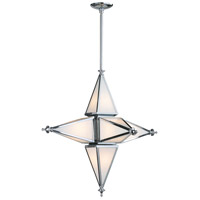 Star 6 Light 30 inch Chrome Pendant Ceiling Light, Small