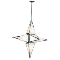 Star 6 Light 40 inch Chrome Pendant Ceiling Light, Large