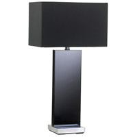 Satin Black Table Lamps