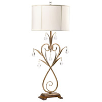 Sophie 39 inch 100 watt Gold Leaf Table Lamp Portable Light