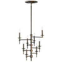 Omega 8 Light 31 inch Oiled Bronze Chandelier Ceiling Light