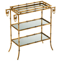 Bamboo 24 X 11 inch Gold Tray Table Home Decor