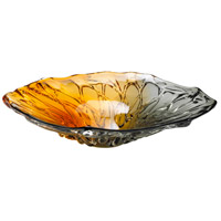 Cyan Design 04240 Duo Art Glass Amber and Smoked Plate