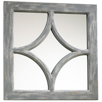 Ashton 17 X 17 inch Distressed Gray Mirror Home Decor