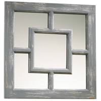 Ashbury 17 X 17 inch Distressed Gray Mirror Home Decor