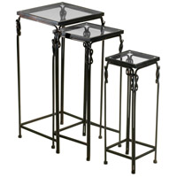 Dupont 14 X 14 inch Rustic Iron Nesting Table Home Decor