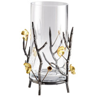 Cyan Design 04354 Botanica Raw Steel and Gold Container, Small