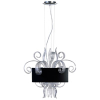 Jellyfish Clear 3 Light 22 inch Chrome Pendant Ceiling Light, Small