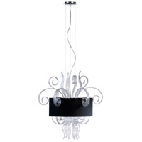 Jellyfish Clear 6 Light 28 inch Chrome Pendant Ceiling Light, Medium