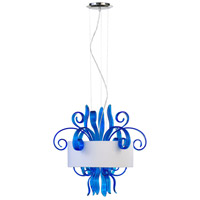 Cyan Design 04395 Jellyfish Cyan 3 Light 22 inch Chrome Pendant Ceiling Light Small