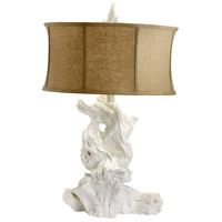 Driftwood 31 inch 100 watt White Table Lamp Portable Light