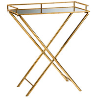 Bamboo 28 X 16 inch Gold Leaf Tray Table Home Decor