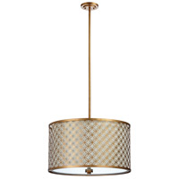 Cyan Design 04598 Calypso 4 Light 25 inch Gold Leaf Pendant Ceiling Light Large