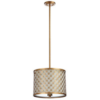 Cyan Design 04599 Calypso 3 Light 16 inch Gold Leaf Pendant Ceiling Light Small