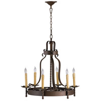 Turner 6 Light 25 inch Gilded Bronze Chandelier Ceiling Light