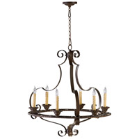 Kensington 6 Light 27 inch Gilded Bronze Chandelier Ceiling Light