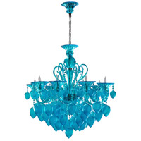 Bella Vetro 8 Light 35 inch Chrome Chandelier Ceiling Light