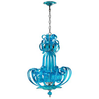Cyan Design 04622 Aqua Florence 4 Light 23 inch Chrome Chandelier Ceiling Light
