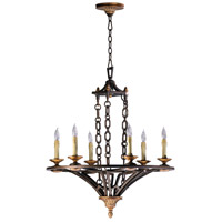 San Giorgio 6 Light 27 inch Oiled Bronze Chandelier Ceiling Light
