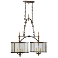 San Giorgio 6 Light 36 inch Oiled Bronze Island Light Ceiling Light