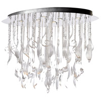 Mirabelle 6 Light 45 inch Chrome Pendant Ceiling Light, Large
