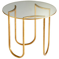 Vincente Gold Leaf Side Table Home Decor