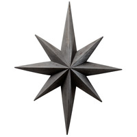Star Distressed Gray Wall Decor