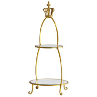 Cyan Design 04712 Crowned Gold Stand Two Tier